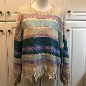 Easel distressed sweater